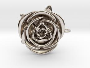 Rose in Rhodium Plated Brass