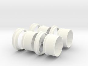 AC Cobra scale 1/8 in White Processed Versatile Plastic