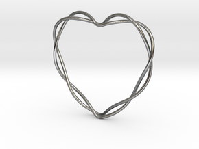 Woven Heart in Interlocking Polished Silver: Extra Small