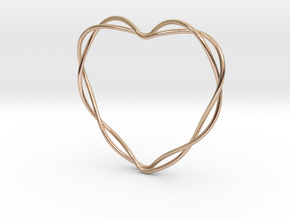 Woven Heart in 14k Rose Gold: Large