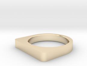 RING US 10.5, EU 62,75 (20,17 mm inner diameter) in 14k Gold Plated