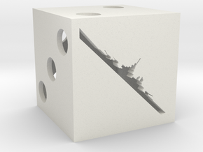 Combat dice for Axis & Allies in White Natural Versatile Plastic