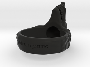 Direwolf ring Special Order 1.5 Diameter in Black Natural Versatile Plastic