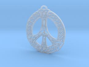 Celtic Peace Symbol Pendant in Smooth Fine Detail Plastic