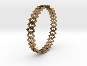 Square Bracelet 2 in Natural Brass (Interlocking Parts)