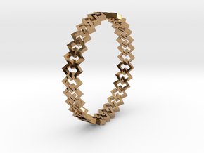 Square Bracelet 2 in Polished Brass (Interlocking Parts)