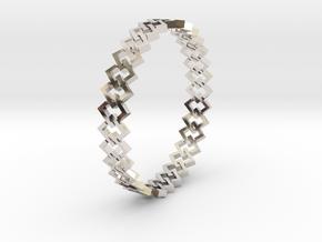 Square Bracelet 2 in Platinum