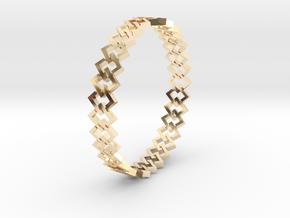 Square Bracelet 2 in 14k Gold Plated Brass