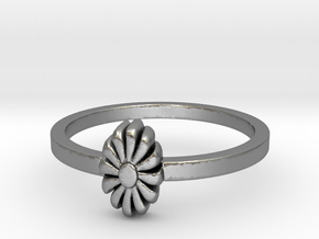 Flora Ring (size 6-13) in Natural Silver: 7 / 54