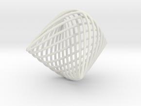 Lissajous Sphere in White Natural Versatile Plastic