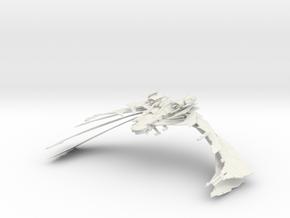 Aehallh Class  NightmareScimitar  Open Wings in White Natural Versatile Plastic