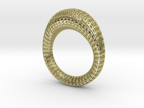 PANELING BAGUE in 18k Gold Plated Brass