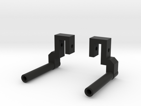 """Classic Single"" Exhaust Pipes for Pro-Line Ambush in Black Strong & Flexible"