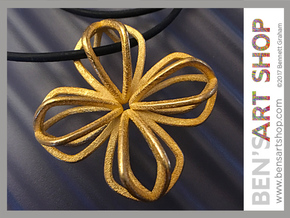 Pendant 72b in Polished Gold Steel