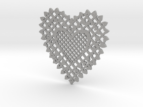 Heartshaped Coaster in Aluminum