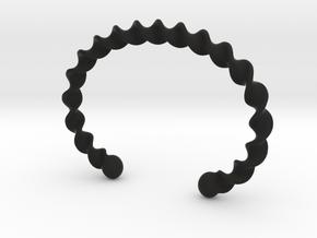 Twisted Cuff Bracelet in Black Natural Versatile Plastic