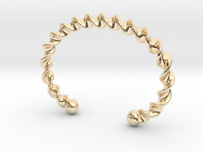 Twisted Cuff Bracelet in 14k Gold Plated Brass