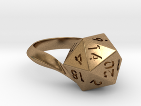 D20 Ring in Natural Brass: 5 / 49