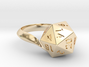 D20 Ring in 14k Gold Plated Brass: 5 / 49