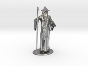 Gandalf Miniature in Natural Silver: 1:60.96