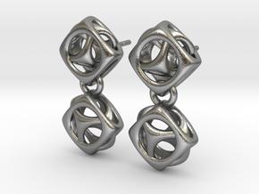 Esty Studs in Natural Silver (Interlocking Parts)