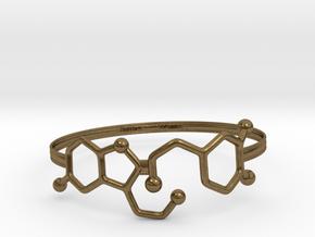 Serotonin Dopamine Bracelet Embossed 75mm in Natural Bronze