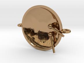 "Tenor Bass 'Surface"" bracelet, S in Polished Brass"