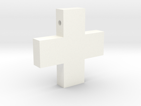 Greek Cross Pendant (as worn by Misato in NGE) in White Processed Versatile Plastic