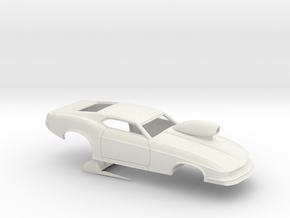 1/8 1970 Pro Mod Mustang With Scoop in White Natural Versatile Plastic