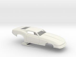 1/8 1970 Pro Mod Mustang No Scoop in White Natural Versatile Plastic
