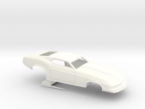 1/32 1970 Pro Mod Mustang No Scoop in White Processed Versatile Plastic