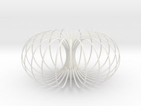 Torus Chandelier Pendant lamp 40cm in White Natural Versatile Plastic