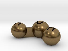 Water Atom Pendant Finding in Natural Bronze