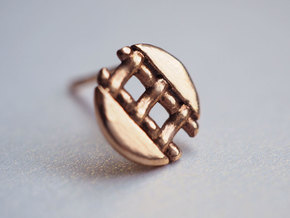 Pie Lattice Earring 4 in 14k Rose Gold Plated Brass