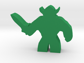 Game Piece, Brute Warrior in Green Strong & Flexible Polished
