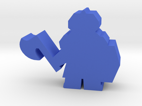 Game Piece, Dwarven Axeman in Blue Processed Versatile Plastic
