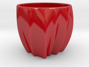 Canada in a cup in Gloss Red Porcelain