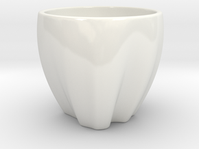 Colombia in a cup in Gloss White Porcelain
