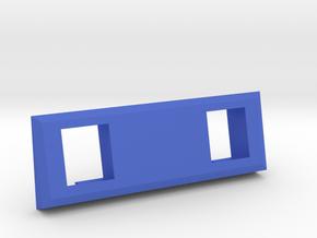 2 Coin Bezel (3 coin wide) - Pinball Coin Door in Blue Processed Versatile Plastic