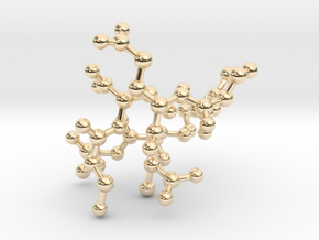MASS SPEC Polypeptide Earrings in 14k Gold Plated Brass