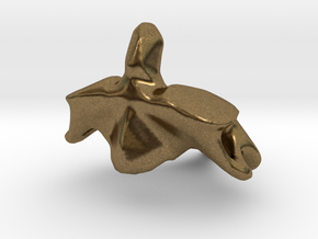 Second Cervical (neck) Vertebra - Axis in Natural Bronze