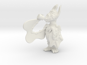 Chug. The Bat in White Natural Versatile Plastic: Small