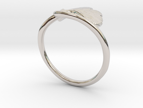 Ginkgo Leaf ring in Platinum: 6 / 51.5