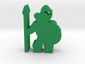Game Piece, Orc Guard in Green Strong & Flexible Polished