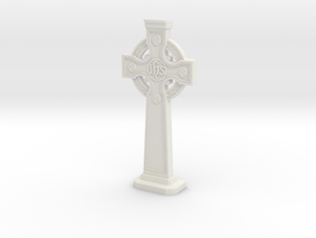 Gravestone miniatur Celticcross10  in White Natural Versatile Plastic