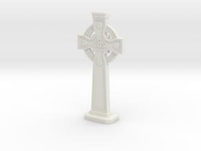 Gravestone miniatur Celticcross10  in White Natural Versatile Plastic