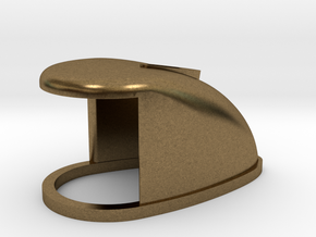 B15F Bow Lamp Housing, Brass or Plastic in Natural Bronze