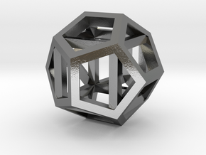 dodecahexahedron in Polished Silver