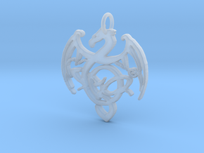 Dragon Pendant in Smooth Fine Detail Plastic