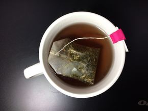 Tea Bag Holder C (Personalized with Embossed Text) in Pink Strong & Flexible Polished